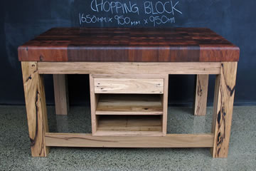 Custom Red Gum Butchers Chopping Block
