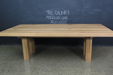 American Oak Timber Table The Chunky