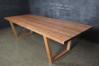 Recycled Messmate Angled U Base Table