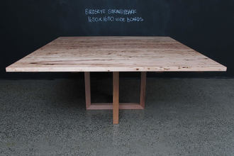 Double U Base Square Timber Table