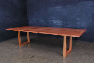 Mitred U Base Recycled Messmate Timber Table