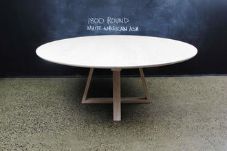 Circular American White Ash Table