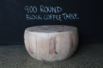 Round Butcher's Block Coffee Table